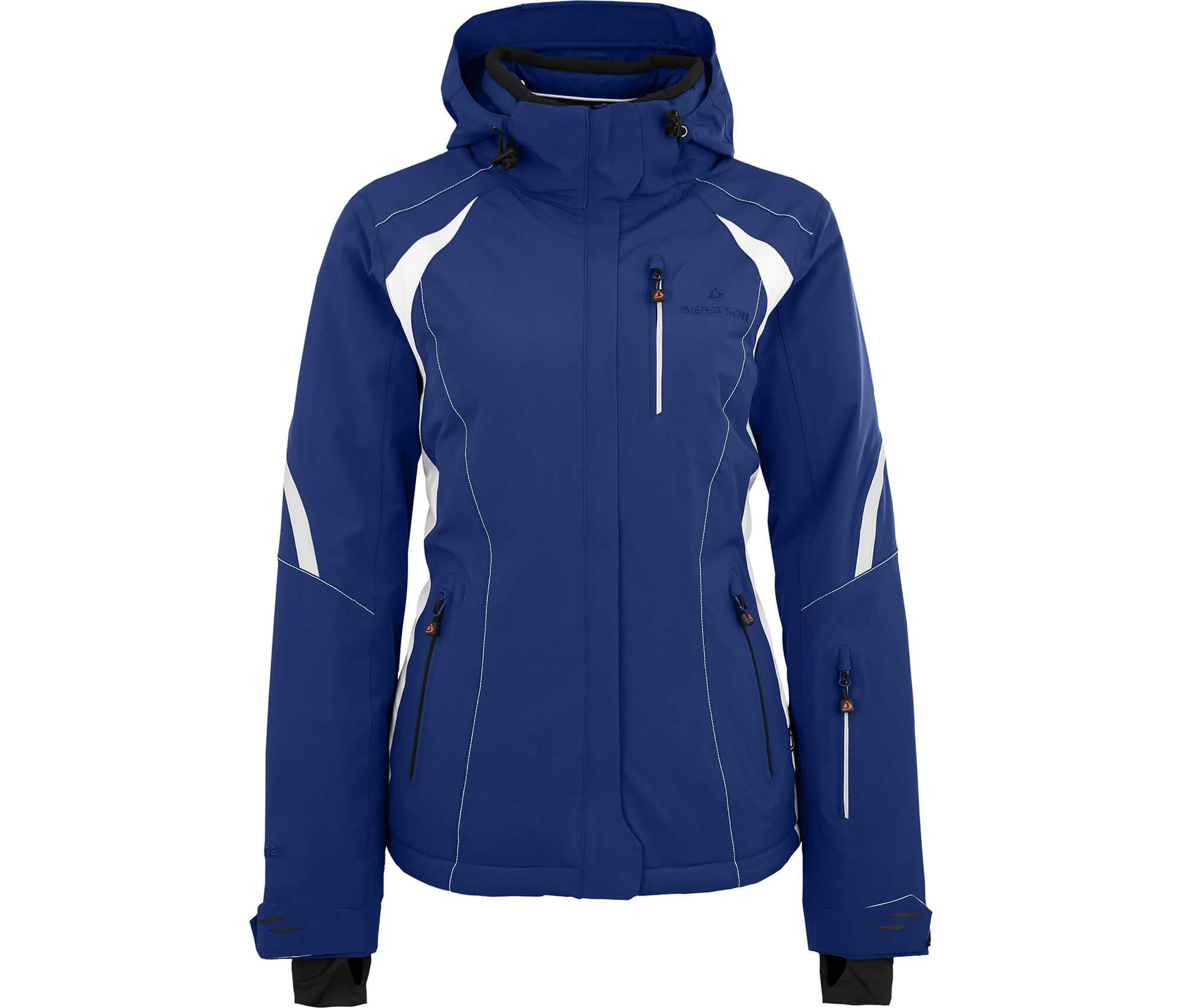 Damen Bergson Damen Snowtastic Bergson Skijacke Bergson Damen Snowtastic Blau Skijacke Blau N80wPZknOX
