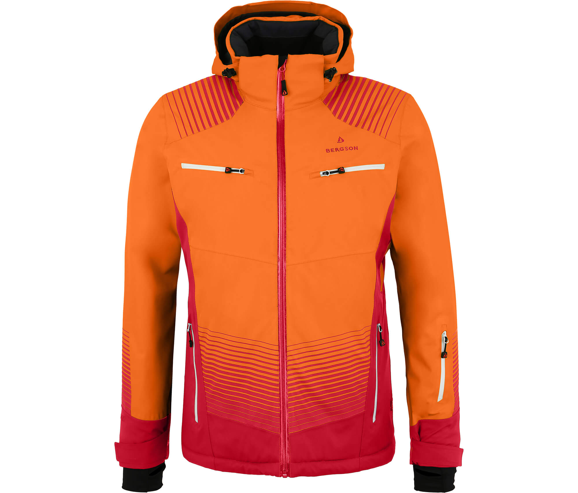 Bergson Herren Skijacke STEEL orange