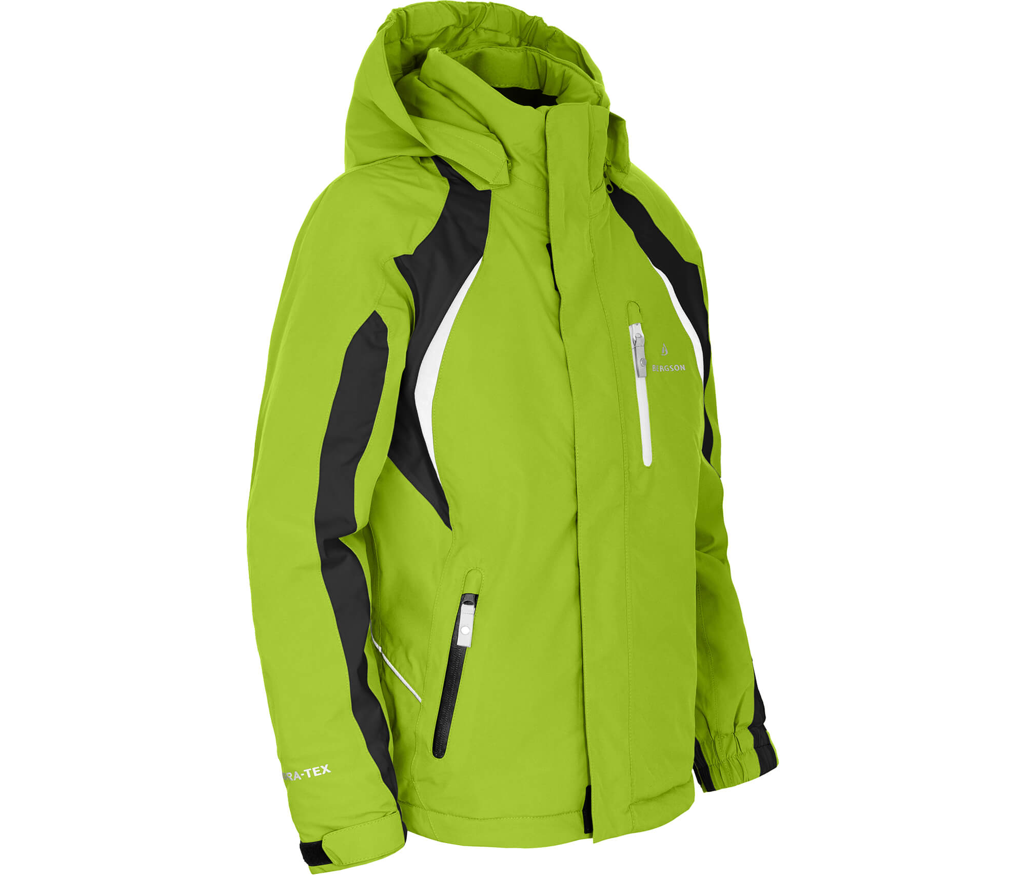 Bergson Kinder Skijacke JENS lime grün